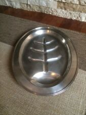 Vtg Cornwall silverplate footed oval meat platter EPNS  For ham,chicken or beef