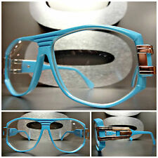 Mens or Women CLASSIC VINTAGE RETRO Style Clear Lens EYE GLASSES Baby Blue Frame