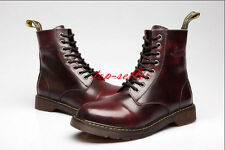 Retro Mens Oxfords British Shoes Casual Motorcycle Lace Up Military Ankle Boots
