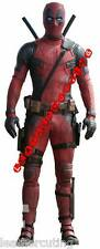 Deadpool Man,s MOVIE Black Red LEATHER SUIT JACKET PANTS BOOTS GLOVES For Mens