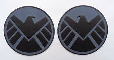 AVENGERS Movie SHIELD  IRON ON 3.5 INCH 2 PC Shoulder  PATCH