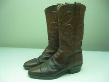 DISTRESSED HONEY BROWN LEATHER LUCCHESE ROCKABILLY BUCKAROO BOOTS SZ 10.5 B
