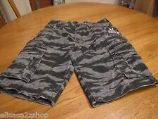 Men's Hurley army walk casual shorts 32 camo camouflage surf skate black cargo