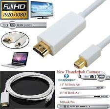 10FT Mini DisplayPort Thunderbolt To HDMI TV Cable Adapter for MacBook Air iMac