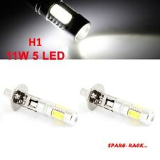 2X H1 SUPER BRIGHT 5 COB CHIP LED PROJECTOR LENS Fog Lamp Bulbs CAR- WHITE