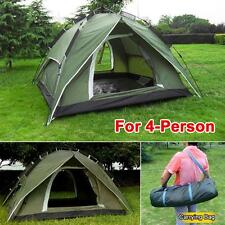 4-Person Double layer Waterproof Family Camping Hiking Instant Tent Green