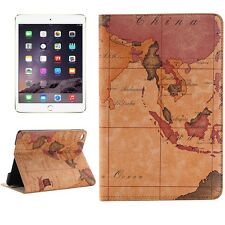 Finta pelle Custodia Apple iPad mini 4 Cover Case Tablet MAPPA DEL MONDO