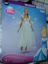 HALLOWEEN COSTUME Disney Cinderella Ladies M 8-10 Blue Dress Beautiful Princess