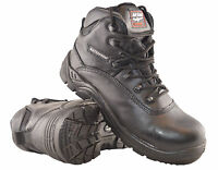 Mens Leather Waterproof Non Metal Composite Safety Work Boots Shoes Size 7-14