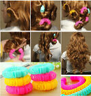 8 PCS New Curler Maker Soft Foam Bendy Twist Curls Tool Styling DIY Hair Roller