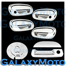 97-03 Ford F150 Triple Chrome 4 Door Handle+NO KYP+w/PSG KH+Tailgate+GAS Cover