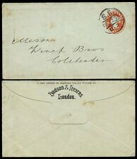 GB QV stationery 1896 Hudson + Kearns STAMPANTI