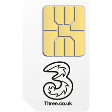 Three 1GB Preloaded 3G/4G Mobile Broadband Data SIM. For Dongles/Tablets/Wi-Fi
