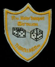 USMC 11th Motor Transport Battalion The Rolling 11th Patch F-5