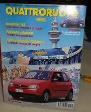 QUATTRORUOTE Luglio 1997 Seat Arosa 1.0 Renault Megane 1.9 dTi Rt BMW Roadster