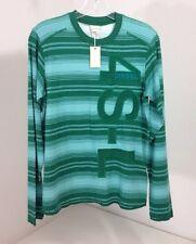 DIESEL BOY'S L/S EMBROIDERED TAFFIDA T-SHIRT GREEN/AQUA XL NWT