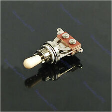 Chic Useful 3 Way Guitar Pickup Toggle Switch Chrome Guitar Parts New
