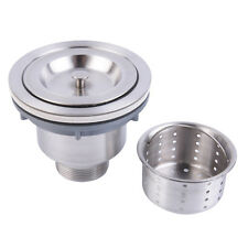 Stainless Steel Kitchen Sink Drain Assembly Waste Strainer and Basket BE