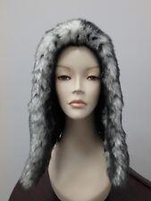 27053 Gray Fox Faux Fur Winter Hat Hood