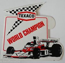 Aufkleber TEXACO F1 WORLD CHAMPION 70er Sticker Autocollant Youngtimer Formel 1