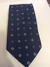 Mario Masotti Dark Blue Tie Diamond-shaped Design