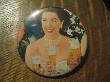 Maggi McNellis Blatz Beer Vintage 1951 Advertisement Pocket Lipstick Mirror $20