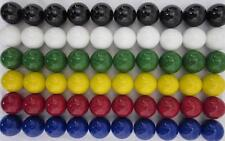 "60 LARGE 1"" Replacement Chinese Checker Board game Solid Color GLASS MARBLES New"