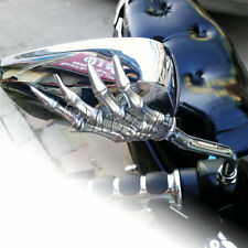 Chrome Skull Rearview Mirrors For Kawasaki VN Vulcan Classic Custom 900 800