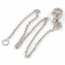 """14K White Gold Child Chain Link Bracelet 5.5"""" 1mm QR1"""