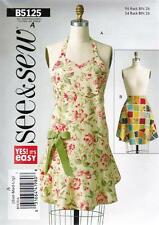 BUTTERICK SEWING PATTERN SEE & SEW  APRONS SIZES S - M - L   B5125
