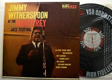Jimmy WITHERSPOON At the Monterey jazz festival USA Orig MONO LP HIFI JAZZ J421