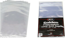 (1000) BCW-GOL Golden Age Size Clear Comic Sleeves Bags Covers Plastic Cover NEW