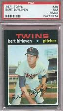 BERT BLYLEVEN ROOKIE CARD 1971 TOPPS #26 PSA 7 NM MC GRADED HOF BASEBALL RC *ABC