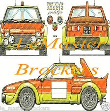 FIAT X1/9 ABARTH PROTOTIPO X 1/9  Poster voiture legende auto yougtimer vintage