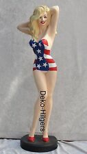 American Diner sexy girl pin up figurine sculpture grand publicitaires personnage deco usa statue