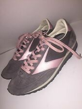 BROOKS Women's VINTAGE VTG Gray & Pink Running Shoes Sneakers 70's Sz 8 M     s2