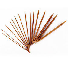 """US 75pcs 8"""" 20cm Double Pointed Carbonized Bamboo Knitting Needles Knit Tools"""