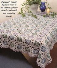 LOVELY Blossoms Tablecloth Doily/CROCHET PATTERN INSTRUCTIONS ONLY