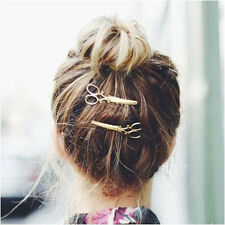 1 Pcs Nice New Fashion Design Women Gold Plated Alloy Scissors Hair Pin Jewelry