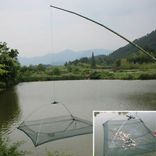 Protable Folded Fishing Net Small Fish Shrimp Minnow Crab Baits Cast Mesh Trap