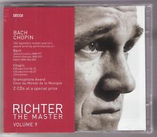 SVIATOSLAV RICHTER The Master 2-CD 2007 Vol.9 BACH CHOPIN piano Decca 4758634