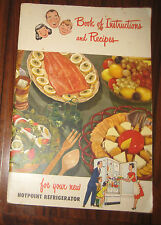 HOTPOINT Book of Instructions & Recipes Refrigerator Cook Book Booklet 1950s?