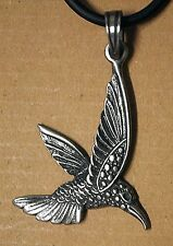 Fashion Humming Bird Hummingbird Metal Silver Pewter Neck pendant Charm Amulet