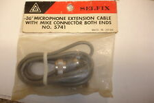 microphone extension cable with mike connector both wends ,made in japan