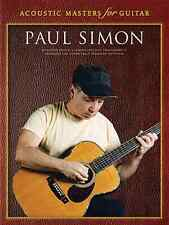 """""""ACOUSTIC MASTERS FOR GUITAR-PAUL SIMON"""" GUITAR-TAB MUSIC BOOK ON SALE NEW!!"""