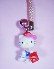 Sanrio Hello Kitty Seating On Airplane Strap Charm 2010 NEW