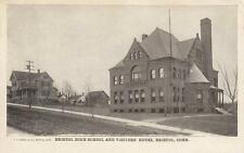 Antique POSTCARD c1905-07 Bristol High School Visitors House BRISTOL, CT 19116