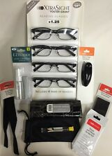 Foster Grant 4-Pack Xtra Sight +1.25 Rob Reading Glasses & Accessories Set New