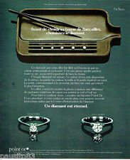 PUBLICITE ADVERTISING 026  1978  De Beers joaillier diamant carat