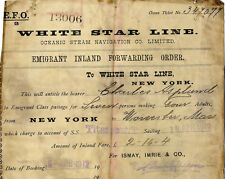 TITANIC COPY OF AN  ORIGINAL RARE TRAVEL TICKET WHITE STAR LINE